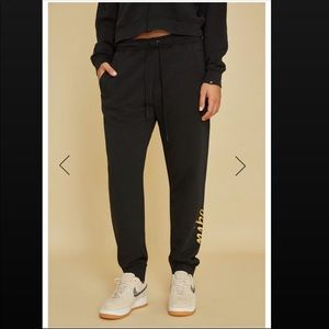 NIKE Sportswear Women's Metallic Sweat Pants BLK M